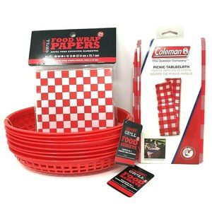 8 Expert Grill Food Baskets & 1 Pkg Of 24 Liners